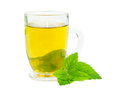 Glass of lemon balm tisane Royalty Free Stock Photos