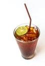 Glass of Lemon ice tea Royalty Free Stock Photo