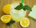 Glass with lemonade Royalty Free Stock Image