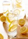 Glass of lemonade closeup Stock Photo