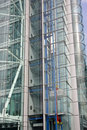 Glass lift shaft Royalty Free Stock Images