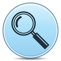 Glass Magnifier Icon Royalty Free Stock Photos