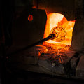 Glass making in murano italy july manufacturing a traditional oven on july italy Stock Photography