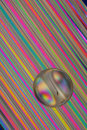 Glass Marble on Straws Royalty Free Stock Photo
