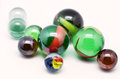 Glass marbles picture of on white background Stock Photo