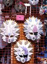 Glass masks italy painted venetian displayed on mesh venice veneto europe Stock Photos