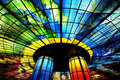 Glass masterpiece on the roof of meilidao station in kaohsiung taiwan worlds largest Royalty Free Stock Photo