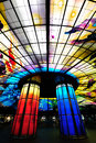 Glass masterpiece on the roof of Meilidao station in Kaohsiung ,Taiwan Royalty Free Stock Photo