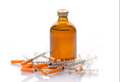 Glass Medicine Vials botox and syringes Royalty Free Stock Photo