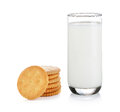 Glass Of Milk And Cracker