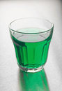 Glass of mint cordial Stock Photos