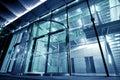 Glass modernt för byggnadsingång till Royaltyfri Bild