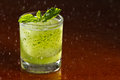 A glass of Mojito with rain drop Royalty Free Stock Photo