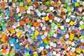 Glass mosaic chip Royalty Free Stock Photo