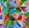 Glass mosaic pano Stock Photo