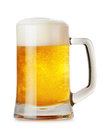 Glass mug with beer isolated on white background Royalty Free Stock Image