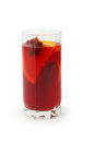 Glass of mulled wine isolated on white background Stock Photos