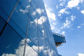 Glass office building in Barcelona - concept of business and financial Royalty Free Stock Photo