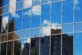 Glass office building reflection sky cloud Royalty Free Stock Photo