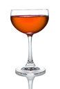 Glass of orange cocktails color Royalty Free Stock Photo