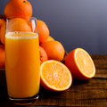 Glass of orange juice Royalty Free Stock Photo