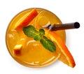 Glass of orange soda drink Royalty Free Stock Photo