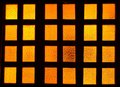 Glass orange window view of Royalty Free Stock Photography