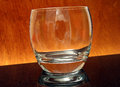 Glass at a party empty and unfilled macro close up with copy space Stock Images