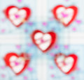 Glass patterned ,beautiful color blur heart background Royalty Free Stock Photo