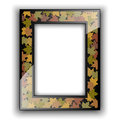 Glass photo frame. Autumn design.