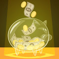 Glass piggy bank Royalty Free Stock Photo