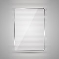 Glass plate glowing panel on a gray background illustration Stock Images
