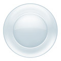 Glass plate on white background Stock Image