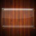 Glass Plate on Wood Background Royalty Free Stock Photography