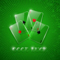Glass poker aces. Stock Photo