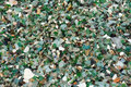 The glass processed by sea water beaten bottle tile ceramics Stock Photos