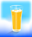Glass of range juice with ice Royalty Free Stock Image