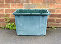 Glass recycling bin a out for collection Royalty Free Stock Images