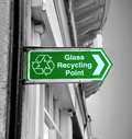 Glass recycling sign Royalty Free Stock Photo