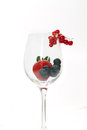 Glass With Red Fruits Royalty Free Stock Photos
