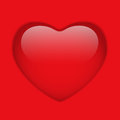 Glass Red Glossy Heart Stock Images