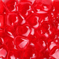 Glass red hearts valentines day background Royalty Free Stock Image