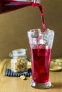 Glass of Red Soda Royalty Free Stock Photo