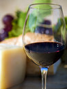 Glass of red wine Royalty Free Stock Image