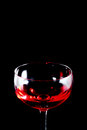 Glass of red wine black isolate Royalty Free Stock Images