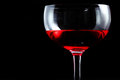 Glass of red wine black isolate Royalty Free Stock Image