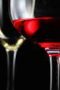 Glass of red wine black isolate close up Royalty Free Stock Image
