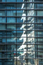 Glass reflex of new fashion apartment buildings in the Porta Nuova area of Milan - blue windows