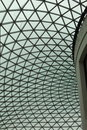 Glass roof this is the of the british museum in london uk Royalty Free Stock Photography
