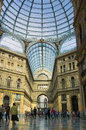 Glass Roof, Galleria, Naples Italy Stock Photography
